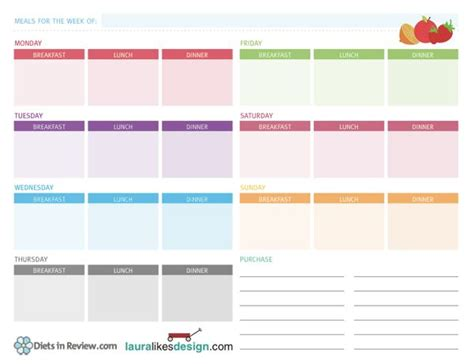 printable meal planning worksheets pin by andrea mcgough on printables binders planners oh