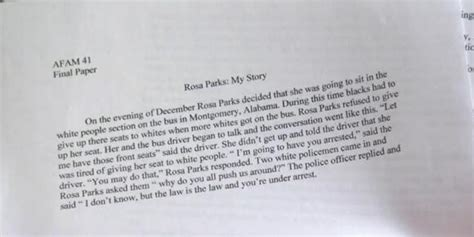Unc Athlete Rosa Parks Essay by Unc Player Wrote This Paper On Rosa Parks And Somehow Still Got An A In The Class Update