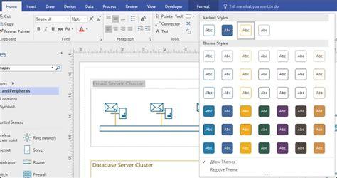 microsoft visio themes microsoft visio themes and styles