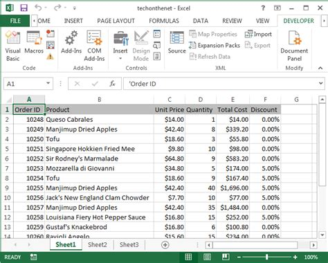 tutorial excel developer ms excel 2013 display the developer tab in the toolbar