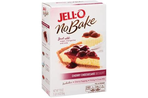 Jello No Bake Oreo Dessert 12 6 Oz jell o no bake cherry cheesecake dessert mix kraft recipes