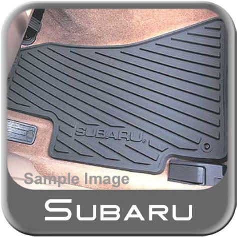 Subaru Legacy Floor Mats by 2005 2009 Subaru Legacy Rubber Floor Mats All Weather Black