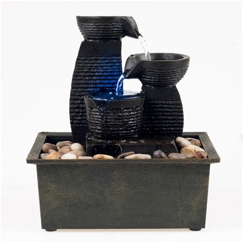 tabletop fountain with light tabletop fountains quick view barrel pot cascading