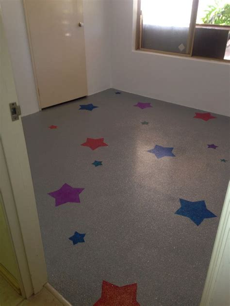Pink Floor Paint by Summer S Epoxy Glitter Floor With Painted On