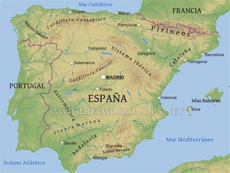 espaa y europa mapa rios y monta 241 as de espa 241 a
