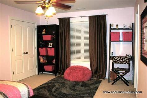pink  brown teen girl bedroom decorating