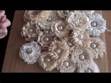 how to make shabby chic flowers out of fabric shabbychic loop flower tutorial freebies for crafters