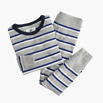 j crew bedding boys pajama set in double stripe long sleeve sleep sets