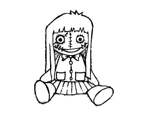 dibujos de munecas para dibujar dibujo de mu 241 eca terror 237 fica para colorear dibujos net