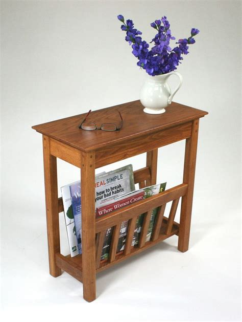 Table With L And Magazine Rack by Wood Magazine End Table Plans Woodworking Projects Plans