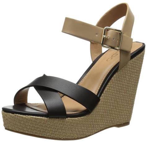aldo pozzolo wedge sandal top heels deals