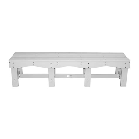 plastic seating benches recycled plastic 70 quot contoured seat bench