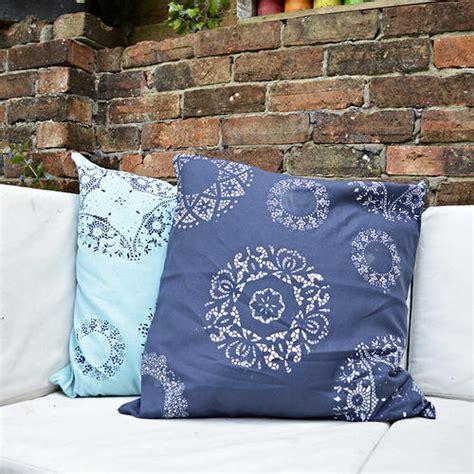 doily stenciled pillows favecrafts