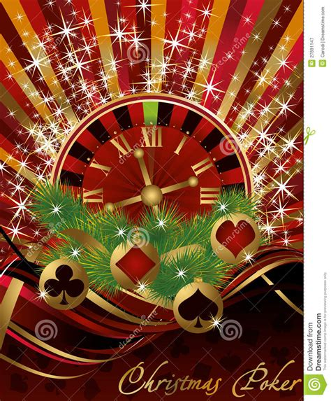 casino christmas card stock vector image of diamond