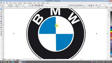 tutorial logo adidas coreldraw creating bmw logo coreldraw tutorial youtube