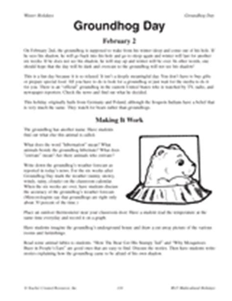 groundhog day story history of groundhog day printable 3rd 5th grade