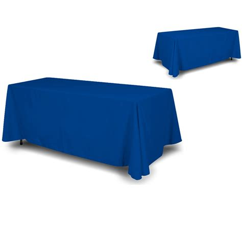 wall26 4 sided back blue tablecloth table cover