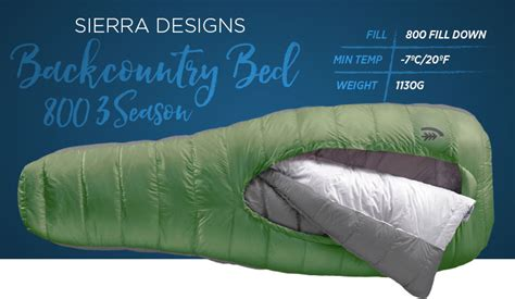 sierra designs backcountry bed 800 the 9 best sleeping bags for backpacking of 2018 cool of