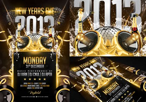 free new years flyer template new years flyer template by angkalimabelas on deviantart