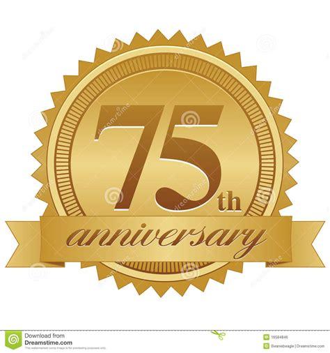 75th wedding anniversary symbol celebrating 75th anniversary clipart