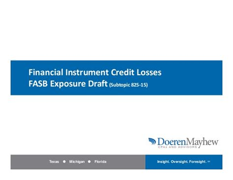 Is Letter Of Credit A Financial Instrument Financial Instrument Credit Losses Fasb Exposure Draft