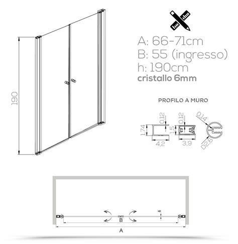altezza box doccia nicchia doccia saloon 70 cm cristallo trasparente altezza