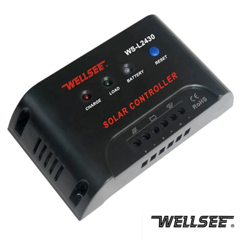 Wellsee Solar Light Controller Ws L2430 20a 12 24v Solar Light Controller