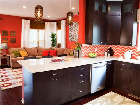 orange design ideas hgtv pictures of colorful kitchens ideas for using color in