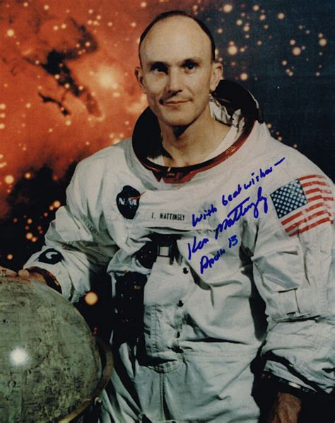 Ken Mattingly Astronaut by Ken Mattingly Autograph Signed Photo