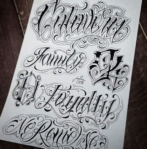 tattoo letters price chicano lettering lettering pinterest chicano