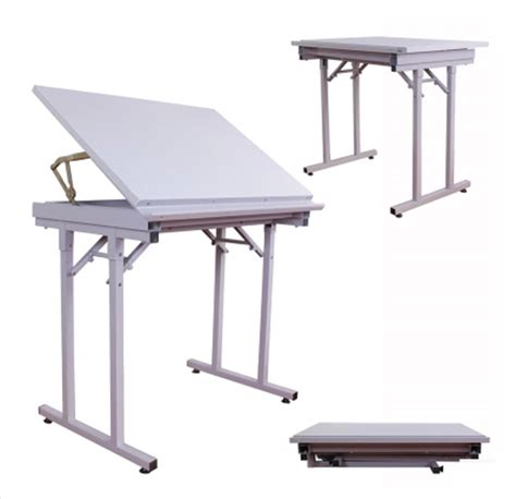 Folding Drafting Table Professional Steel Folding Angleadjustable Drawing Drafting Table 35 27 9inches Ebay