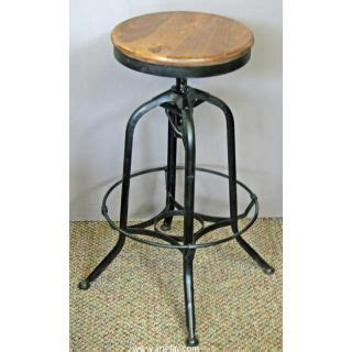 How To Raise Bar Stool Height by This Industrial Bar Counter Stool With Wooden Seat Spins