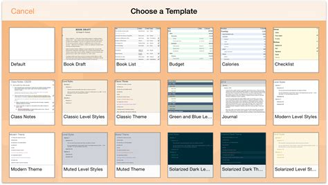 Omnioutliner Templates omnioutliner 2 7 for ios user manual working with