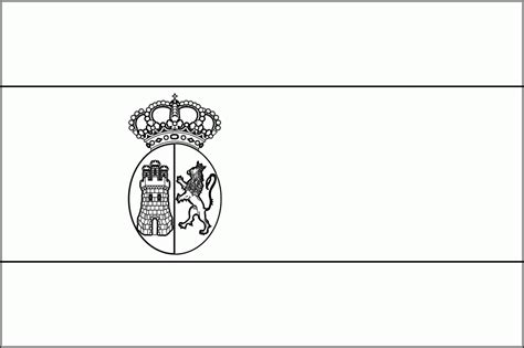 Spain Flag Coloring Pages Printable Coloring Pages Spain Flag Template