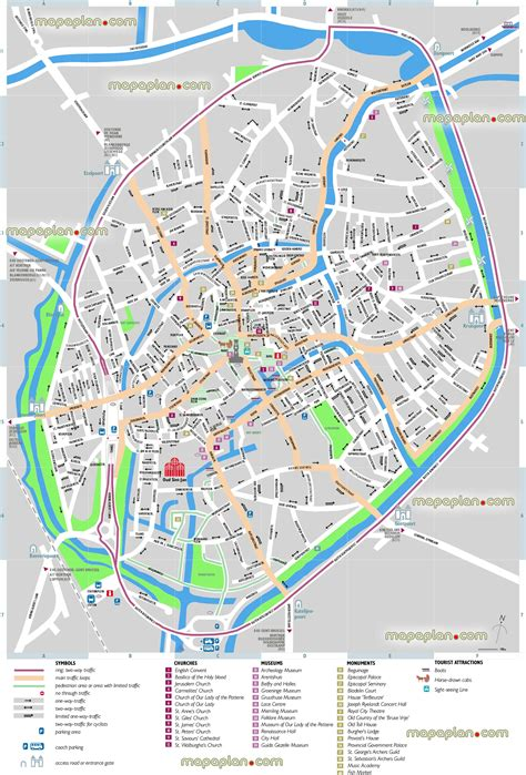 printable street map bruges bruges map bruges sightseeing printable virtual 3d free