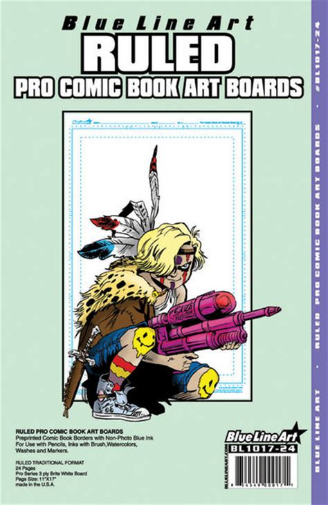 blue line pro blue line pro comic book ruled boards 24 pack at tfaw