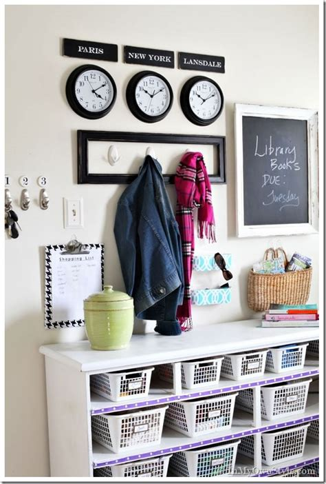 Small Garage Organization Ideas - mudroom organizing wall grand central station in my own style