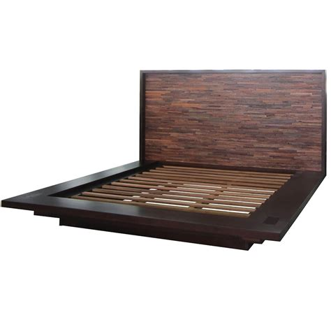 Platform Bed Frame Reclaimed Wood Platform Bed Frame Zin Home