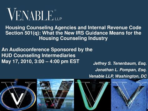 irs code section ppt housing counseling agencies and internal revenue