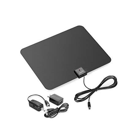 viewtv flat hd digital indoor lified tv antenna 60 range detachable lifier