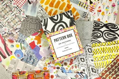 pattern box 100 postcards 1616891882 the pattern box 100 postcards by 10 contemporary pattern designers papercut