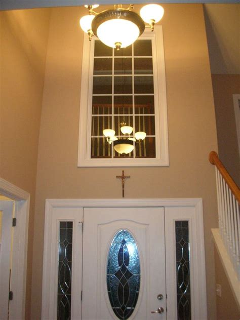 Foyer Window Curtains My Home Redux Two Story Foyer Window What To Do About Window Treatments