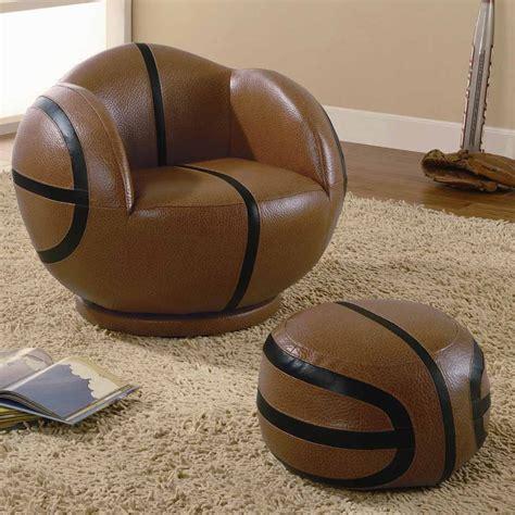Basketball Chair by Coaster 460176 Small Basketball Chair And Ottoman Set