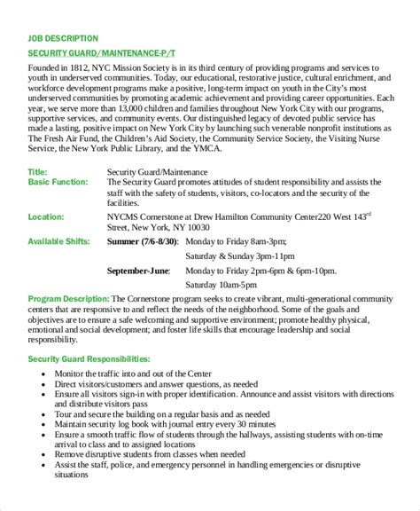 security description for resume 28 images