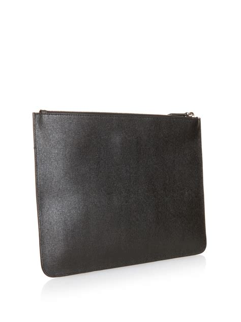 Quiksilver Ls58 Silveryellow Black Leather lyst fendi bag bugs studded leather pouch in black for
