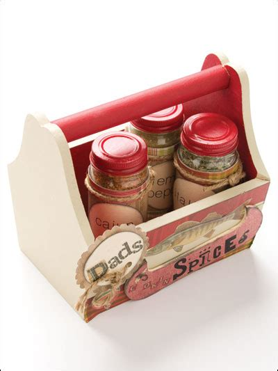 Seasoning Caddy Paper Crafting Gift Patterns S Spice Caddy