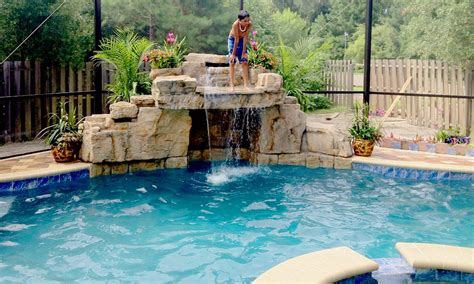 pool waterfall ideas jacksonville pool waterfall design beautiful custom