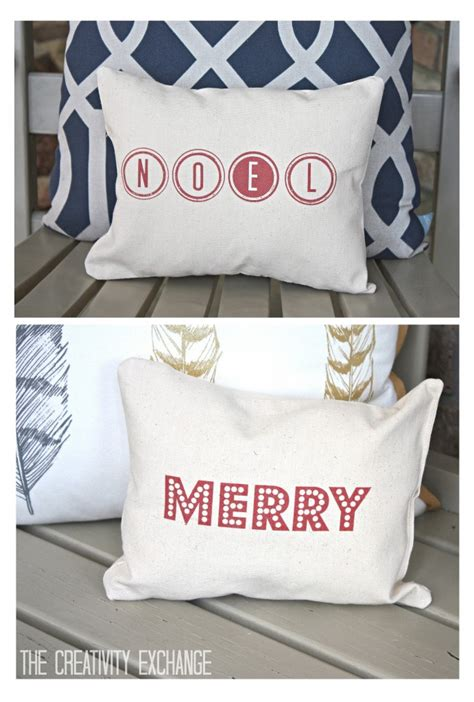 printable fabric pillow free printable for making quot merry quot and quot noel quot christmas