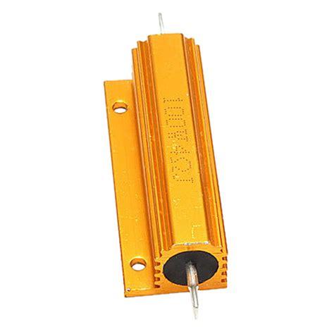 aluminum clad resistors gold aluminum clad power resistor resistance 100w t1 ebay