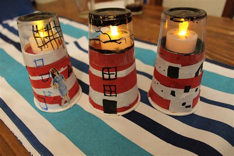 lighthouse craft project mid craft crisis paper cup lighthouses